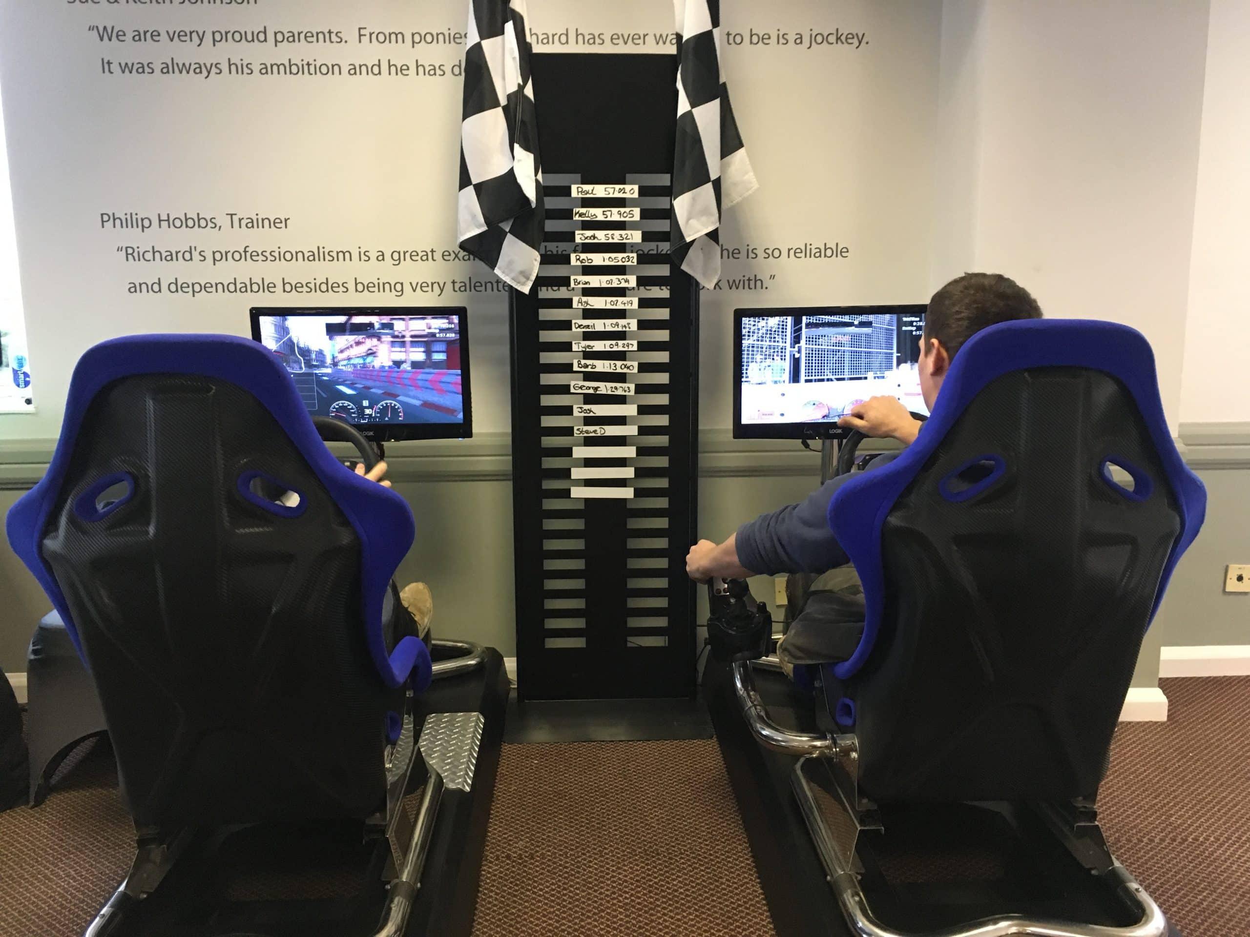 Racing car simulators