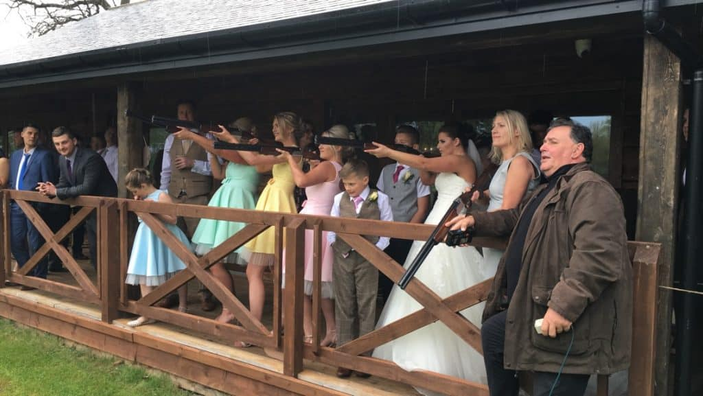 Laser Clay Shooting Wedding