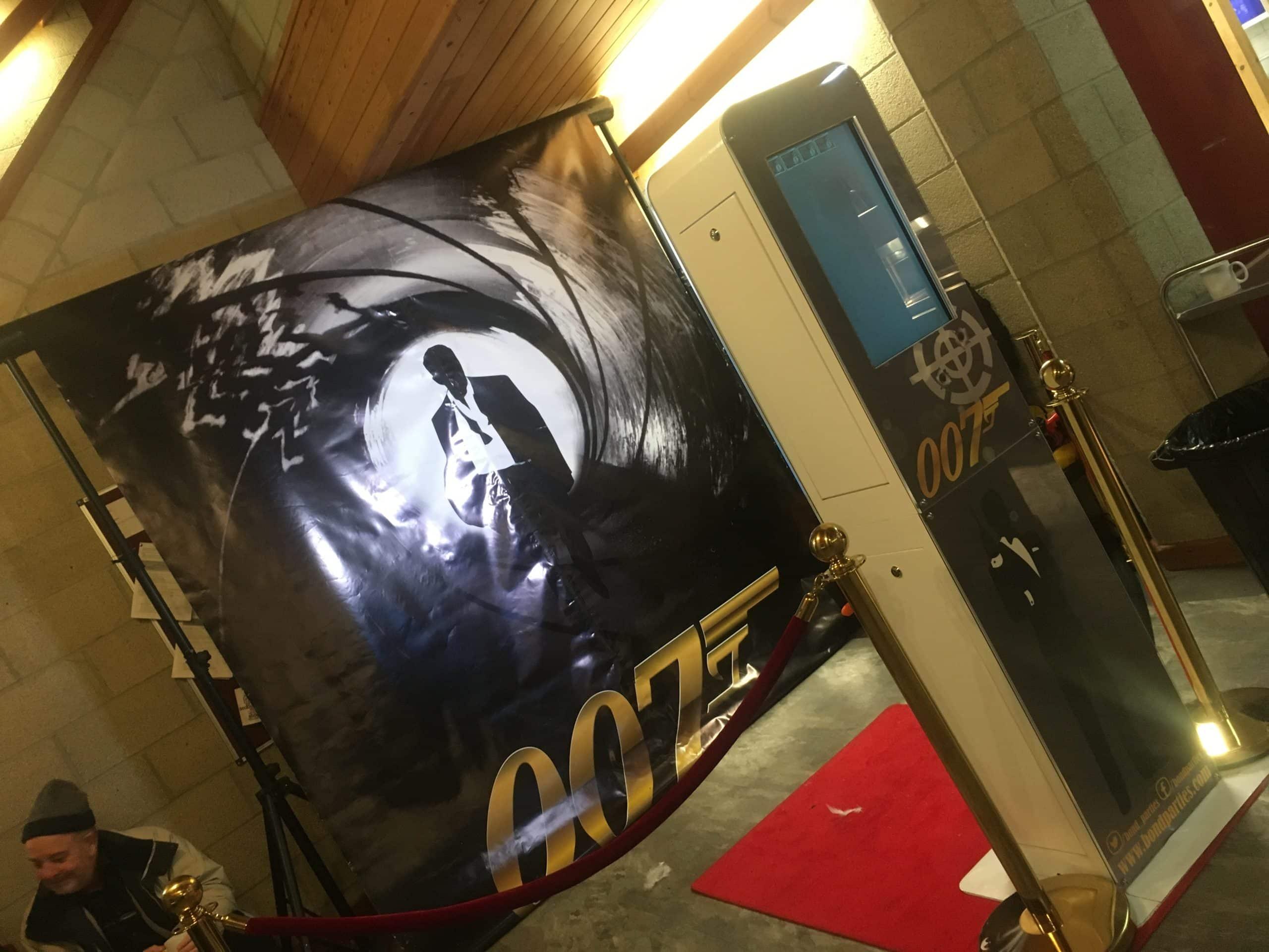 Bond backdrop hire