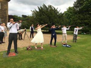 Wedding Laser Clay Shooting