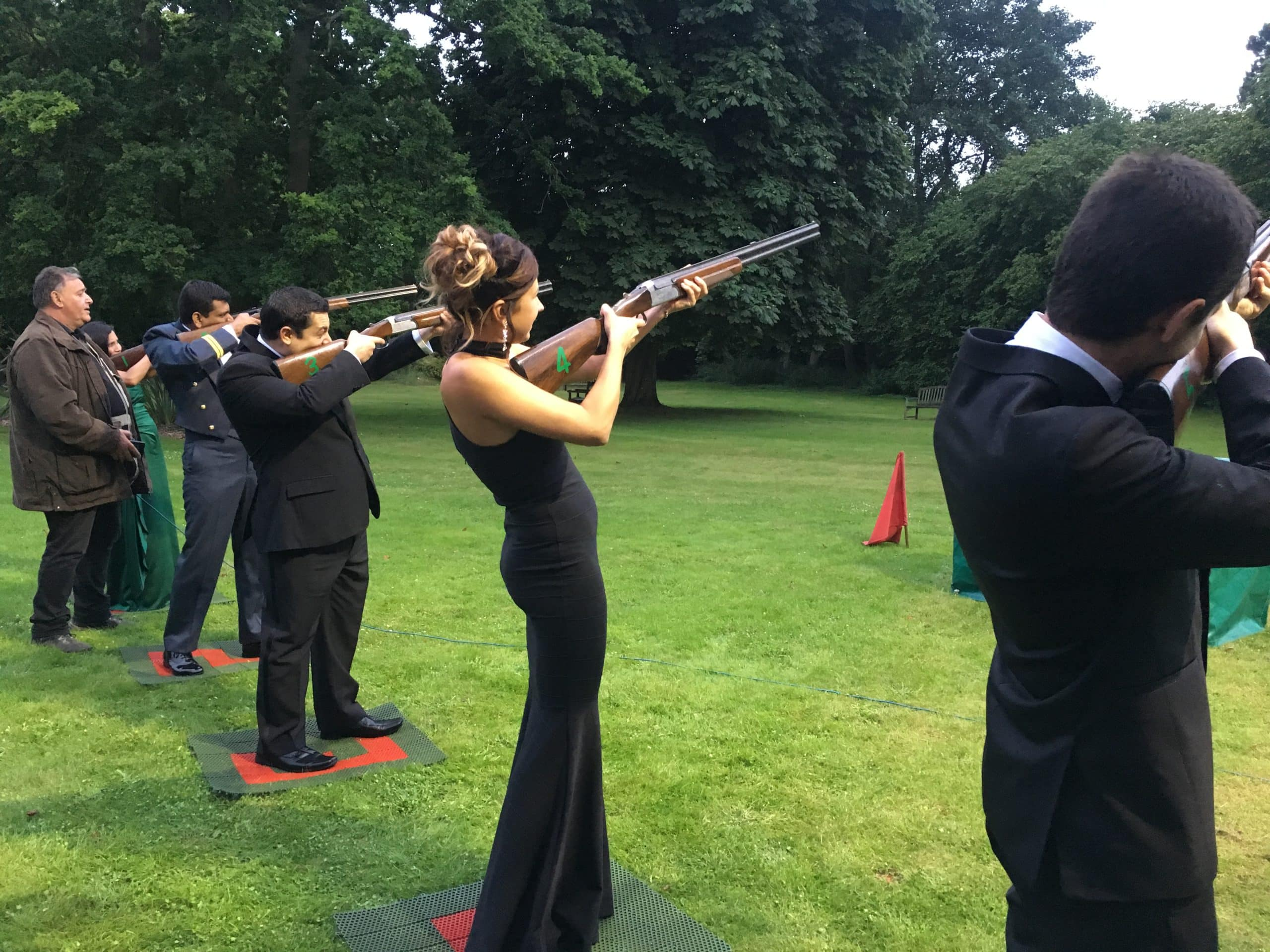 Laser shooting hire