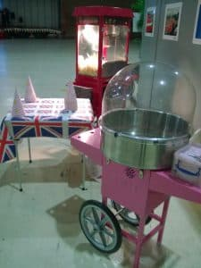 Candyfloss popcorn hire