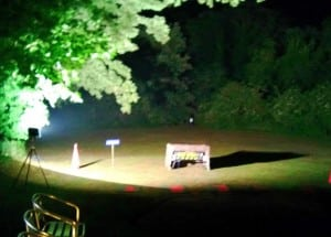 Floodlit Laser Clay Shooting